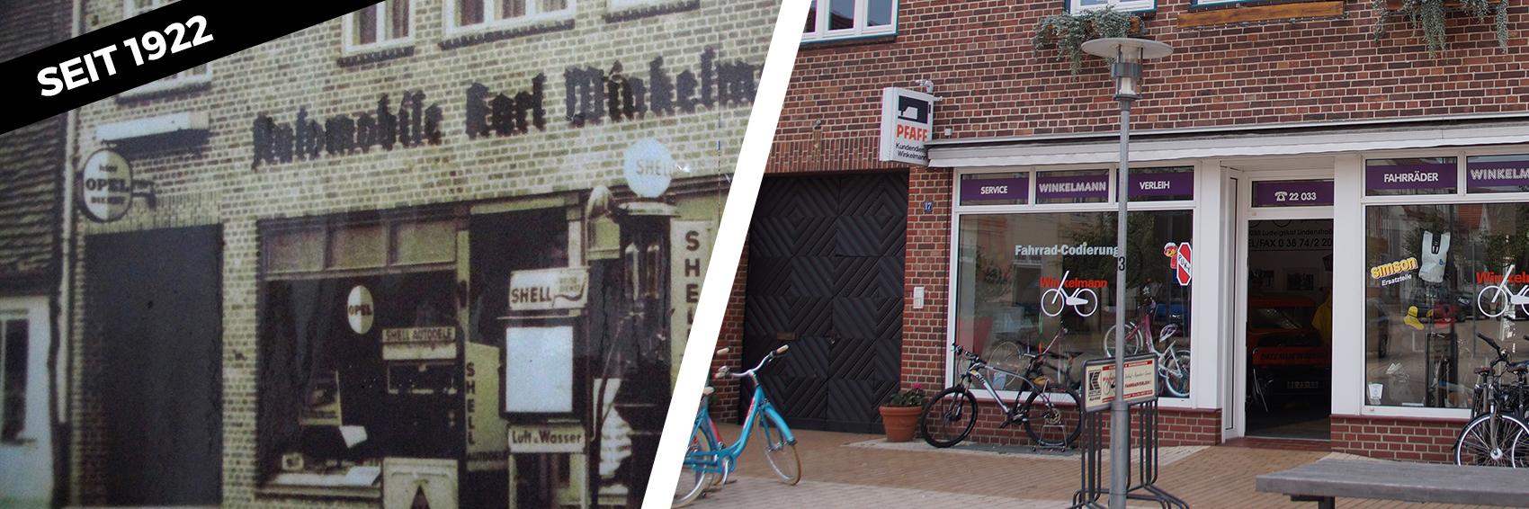 Zweiradhaus Winkelmann alt und neu